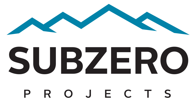Black Subzero Projects commercial refrigeration logo on transparent background